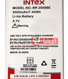 Mobile Battery For Intex Aqua Life 2 II