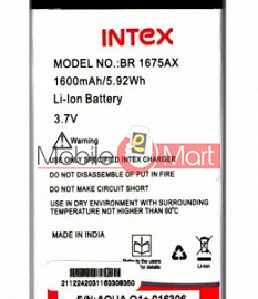 Mobile Battery For Intex Aqua Q1+ Plus